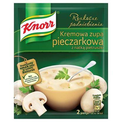 Obrazek Knorr Rozkosze podniebienia Kremowa zupa pieczarkowa z natką pietruszki 49 g