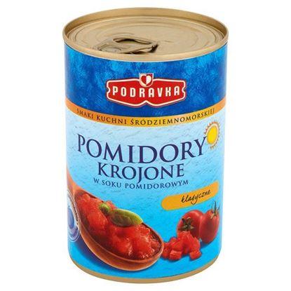 Obrazek Podravka Smaki kuchni śródziemnomorskiej Pomidory krojone w soku pomidorowym klasyczne 400 g