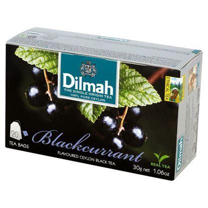 Obrazek Dilmah Cejlońska czarna herbata z aromatem czarnej porzeczki 30 g (20 torebek)