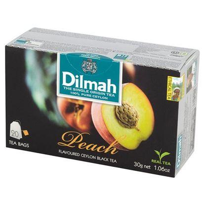 Obrazek Dilmah Cejlońska czarna herbata z aromatem brzoskwini 30 g (20 torebek)