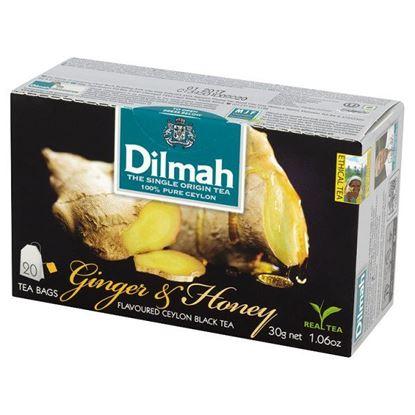 Obrazek Dilmah Cejlońska czarna herbata z aromatem imbiru i miodu 30 g (20 torebek)