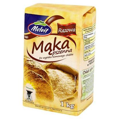 Obrazek Melvit Mąka pszenna razowa do wypieku domowego chleba 1 kg