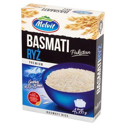 Obrazek Melvit Premium Ryż Basmati Pakistan 400 g (4 torebki)