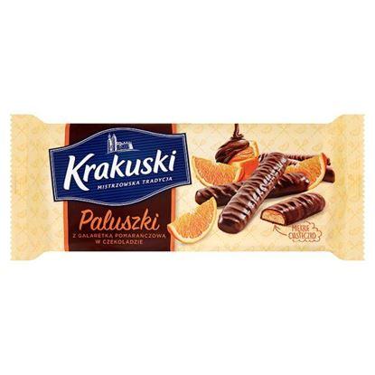 Obrazek Krakuski Paluszki z galaretką pomarańczową w czekoladzie 144 g