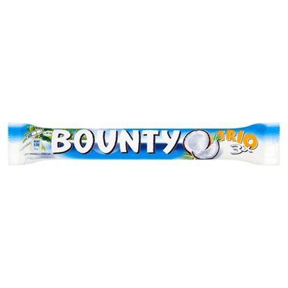 Obrazek Bounty Trio Batoniki z nadzieniem kokosowym oblane czekoladą 85 g
