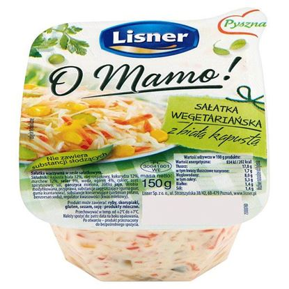 Obrazek Lisner O Mamo! Sałatka wegetariańska z białą kapustą 150 g