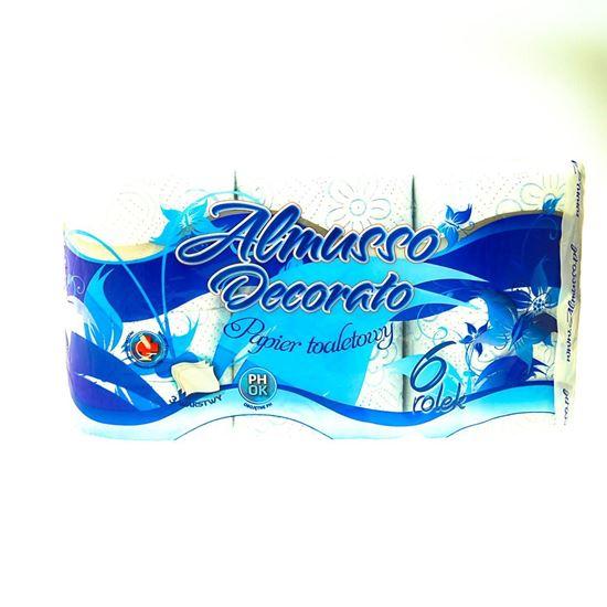 Obrazek Almusso papier toaletowy niebieski 6 szt