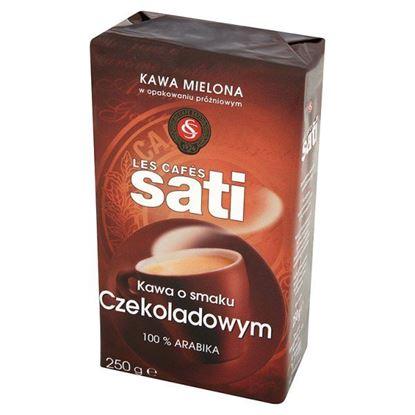 Obrazek Cafe Sati Kawa palona mielona o smaku czekoladowym 250 g