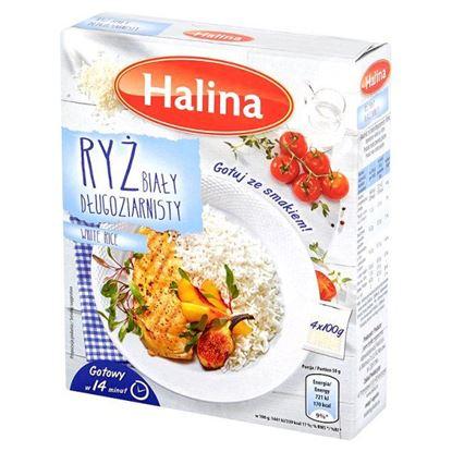 Obrazek Halina Ryż biały długoziarnisty 400 g (4 sztuki)