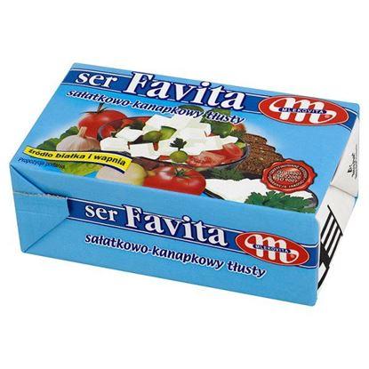 Obrazek Mlekovita Favita Ser sałatkowo-kanapkowy tłusty 270 g