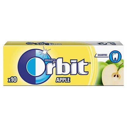 Obrazek Orbit Apple Guma do żucia bez cukru 14 g (10 drażetek)