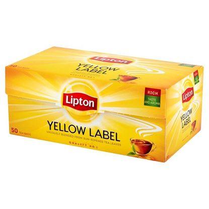 Obrazek Lipton Yellow Label Herbata czarna 100 g (50 torebek)
