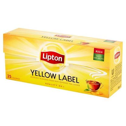 Obrazek Lipton Yellow Label Herbata czarna 50 g (25 torebek)