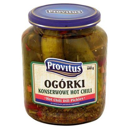 Obrazek Provitus Ogórki konserwowe hot chili 640 g