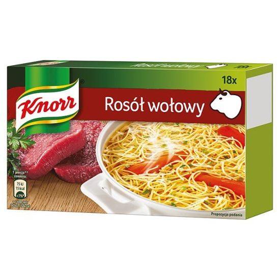 Obrazek Knorr Rosół wołowy 180 g (18 kostek)