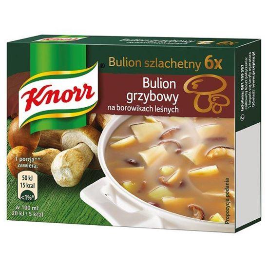 Obrazek Knorr Bulion szlachetny grzybowy na borowikach leśnych 60 g (6 kostek)