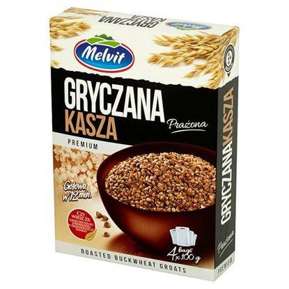 Obrazek Melvit Premium Kasza gryczana prażona 400 g (4 torebki)