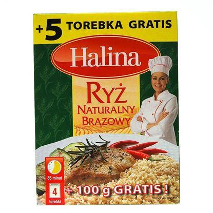 Obrazek Halina ryż naturalny brązowy 4 x 100 g