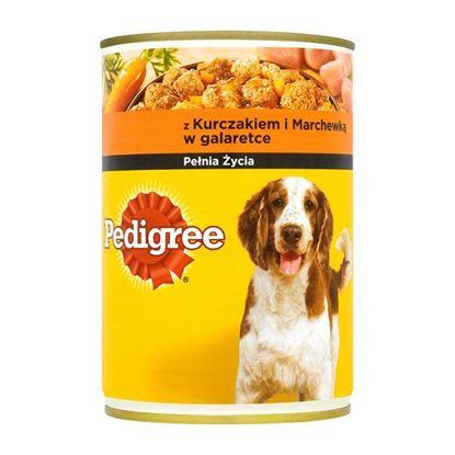 Obrazek Pedigree z kurczakiem i marchewką w galaretce Karma pełnoporcjowa 400 g