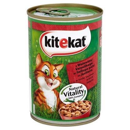 Obrazek Kitekat z wołowiną w sosie Karma pełnoporcjowa 400 g