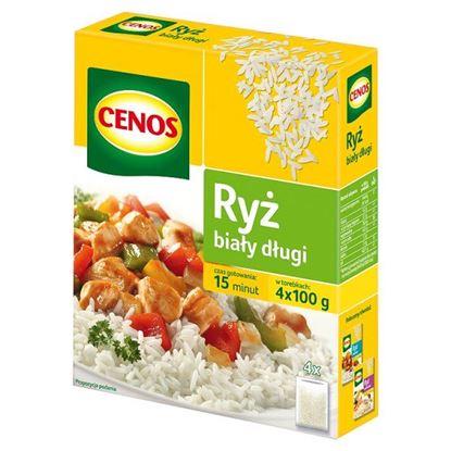 Obrazek Cenos Ryż biały długi 400 g (4 torebki)