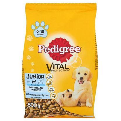 Obrazek Pedigree Vital Protection Junior z kurczakiem i ryżem Średnie rasy Karma pełnoporcjowa 500 g