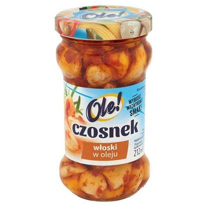 Obrazek Ole! Czosnek włoski w oleju 190 g