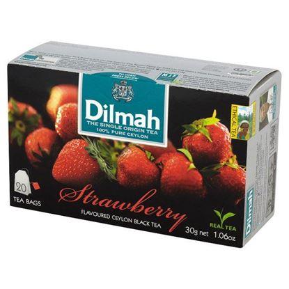 Obrazek Dilmah Cejlońska czarna herbata z aromatem truskawki 30 g (20 torebek)