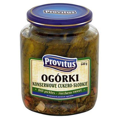 Obrazek Provitus Ogórki konserwowe cukero słodkie 640 g