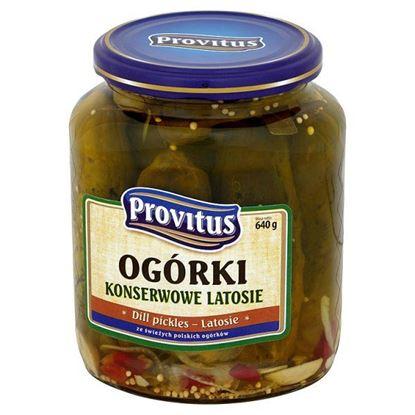 Obrazek Provitus Ogórki konserwowe latosie 640 g
