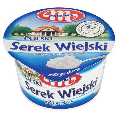 Obrazek Mlekovita Polski Wiejski Serek twarogowy ziarnisty ze śmietanką 200 g