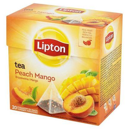 Obrazek Lipton Brzoskwinia i Mango Herbata czarna aromatyzowana 36 g (20 torebek)