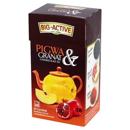 Obrazek Big-Active Pigwa & Granat Herbata czarna z kawałkami owoców 40 g (20 torebek)
