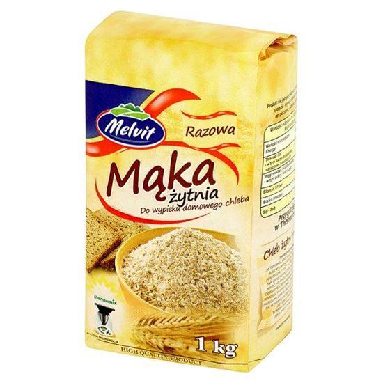 Obrazek Melvit Mąka żytnia razowa do wypieku domowego chleba 1 kg
