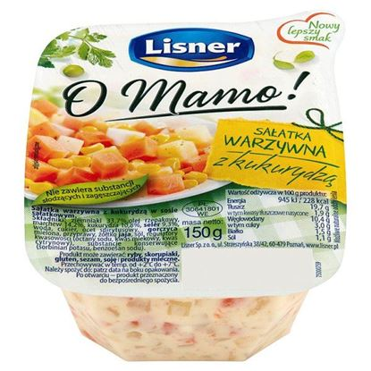 Obrazek Lisner O Mamo! Sałatka warzywna z kukurydzą 150 g