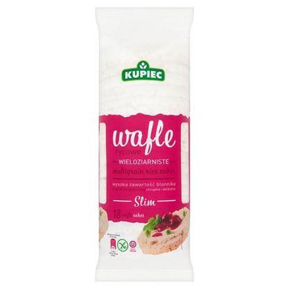 Obrazek Kupiec Slim Wafle ryżowe wieloziarniste 90 g (18 sztuk)
