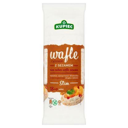 Obrazek Kupiec Slim Wafle ryżowe z sezamem 90 g (18 sztuk)