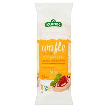 Obrazek Kupiec Slim Wafle ryżowe ze słonecznikiem 84 g (18 sztuk)