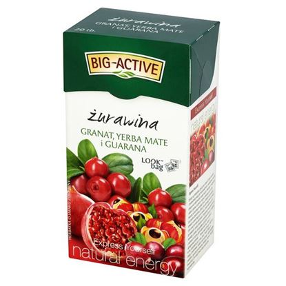 Obrazek Big-Active Express Yourself żurawina granat yerba mate i guarana Herbatka 45 g (20 torebek)
