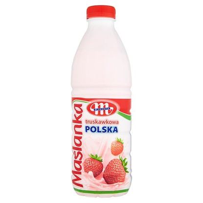 Obrazek Mlekovita Maślanka Polska truskawkowa 1 kg