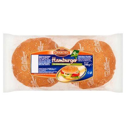 Obrazek Oskroba Hamburger Pieczywo pszenne 240 g (4 sztuki)