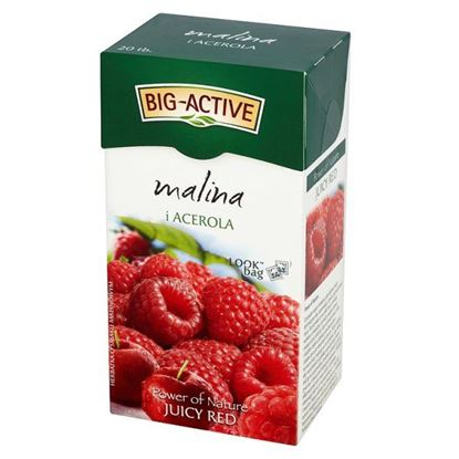 Obrazek Big-Active Power of Nature Juicy Red malina i acerola Herbatka 45 g (20 torebek)