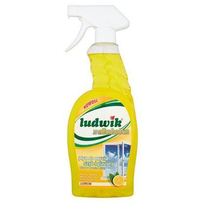 Obrazek Ludwik z alkoholem Lemon Płyn do mycia szyb i glazury 750 ml