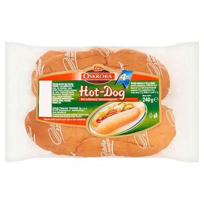Obrazek Oskroba Hot-Dog Pieczywo pszenne 240 g (4 sztuki)