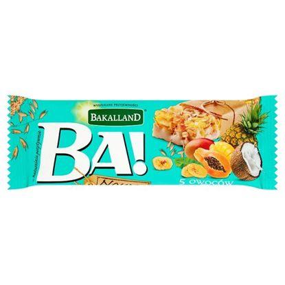 Obrazek Bakalland Ba! 5 owoców tropikalnych Baton zbożowy 40 g