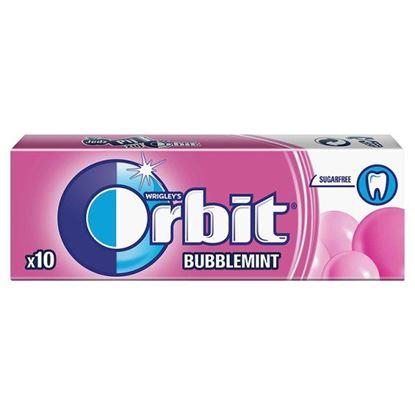 Obrazek Orbit Bubblemint Guma do żucia bez cukru 14 g (10 drażetek)