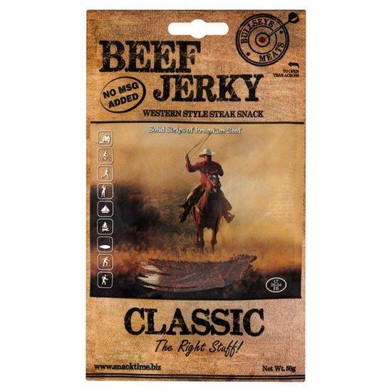 Obrazek Bullseye Meats Beef Jerky Classic Suszona wołowina 50 g