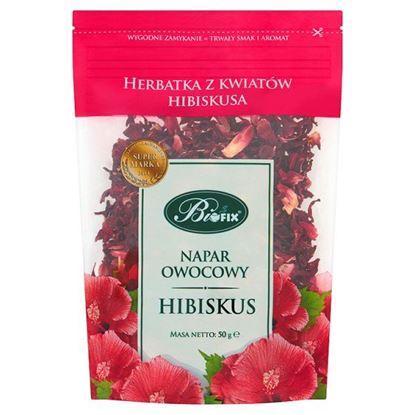 Obrazek Bifix Napar owocowy hibiscus Herbatka z kwiatów hibiskusa 50 g