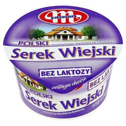 Obrazek Mlekovita Polski Wiejski bez laktozy Serek twarogowy ziarnisty ze śmietanką 180 g