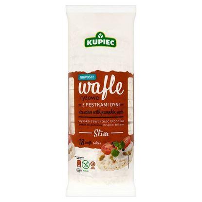 Obrazek Kupiec Slim Wafle ryżowe z pestkami dyni 90 g (18 sztuk)